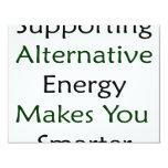 La energía alternativa favorable le hace más invitación