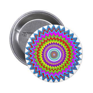 La energía brillante iluminada rueda de los colore pin redondo de 2 pulgadas