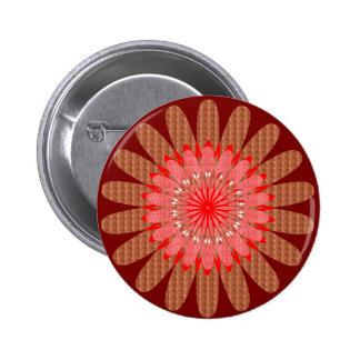 La energía brillante iluminada rueda de los pin redondo de 2 pulgadas