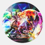 La energía de la danza pegatinas redondas