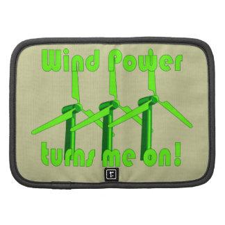 La energía eólica me gira planificadores