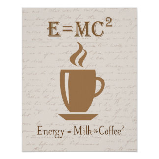 La energía iguala la leche por el poster ajustado