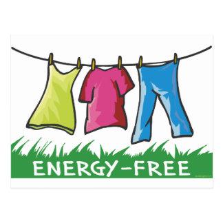 La energía libera tarjetas postales
