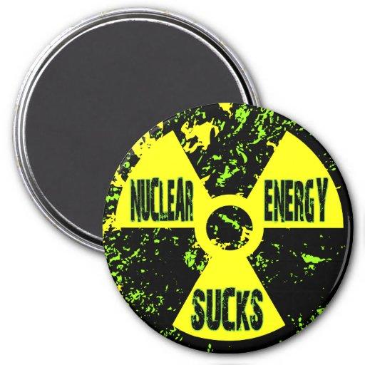 La energía nuclear chupa imán redondo 7 cm