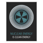 La energía nuclear es energía limpia impresiones