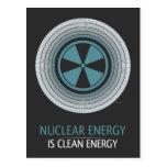 La energía nuclear es energía limpia postales