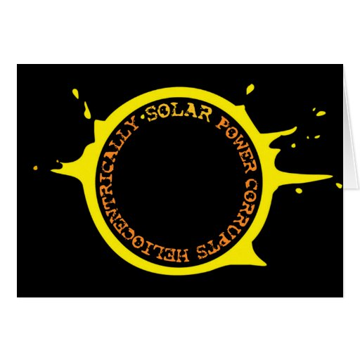 La energía solar corrompe heliocentrically tarjetas