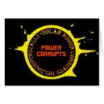 La energía solar corrompe Heliocentrically Tarjeton
