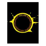 La energía solar corrompe heliocentrically tarjetas postales