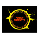 La energía solar corrompe Heliocentrically Tarjeta Postal