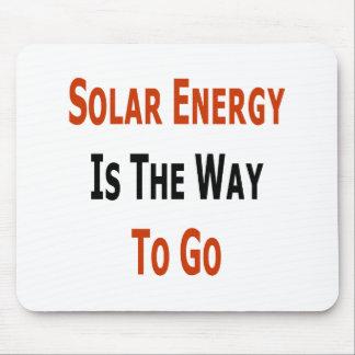 La energía solar es la manera de ir alfombrillas de ratón