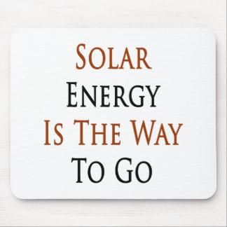 La energía solar es la manera de ir tapetes de raton