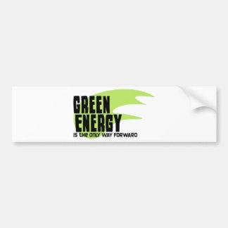 La energía verde es la única manera adelante pegatina para auto