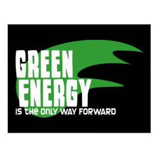 La energía verde es la única manera adelante tarjetas postales