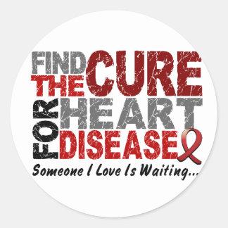 La enfermedad cardíaca encuentra la curación 1 pegatinas redondas
