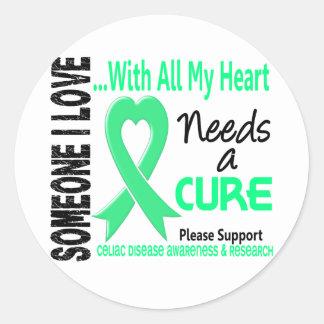 La enfermedad celiaca necesita una curación 3 pegatina redonda