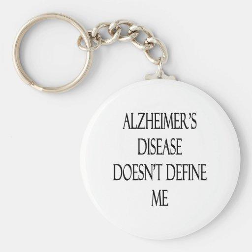 La enfermedad de Alzheimer no me define Llavero Personalizado