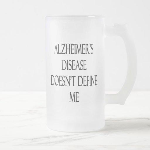 La enfermedad de Alzheimer no me define Taza Cristal Mate