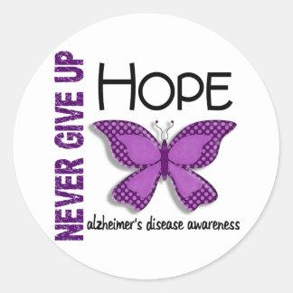 La enfermedad de Alzheimer nunca da para arriba la Pegatina Redonda