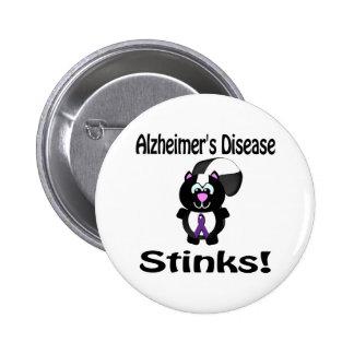 La enfermedad de Alzheimers apesta la conciencia D Pin Redondo De 2 Pulgadas