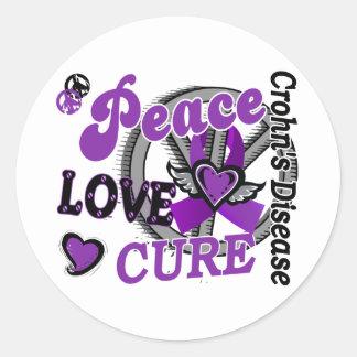La enfermedad de Crohn de la curación 2 del amor Etiqueta Redonda
