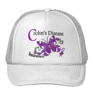 La enfermedad de Crohn de la mariposa 2 del vitral Gorros