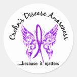 La enfermedad de Crohn de la mariposa 6,1 del Pegatina Redonda
