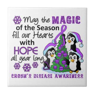 La enfermedad de Crohn de los pingüinos del navida Azulejo
