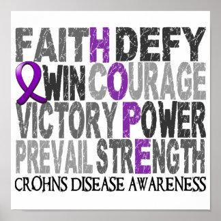La enfermedad de Crohn del collage de la palabra d Posters