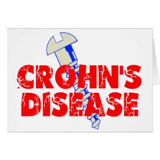 La enfermedad de Crohn del tornillo Tarjeton
