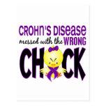 La enfermedad de Crohn ensuciada con el polluelo i Tarjetas Postales