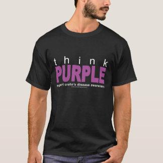 La enfermedad de Crohn piensa púrpura Playera