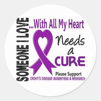 La enfermedad de Crohns necesita una curación 3 Pegatina Redonda