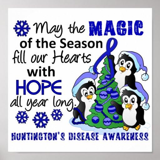 La enfermedad de Huntington de los pingüinos del n Posters