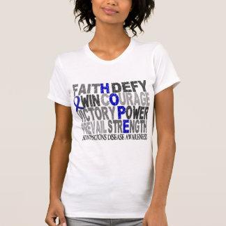 La enfermedad de Huntington del collage de la Camisetas