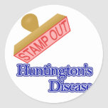 La enfermedad de Huntington Etiqueta Redonda