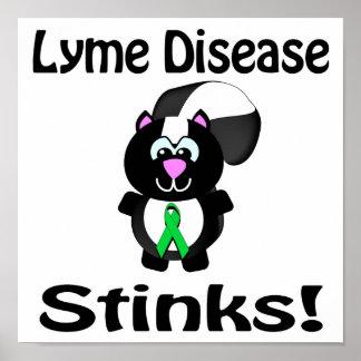La enfermedad de Lyme apesta diseño de la concienc Posters
