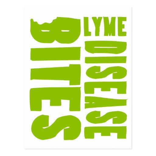 La enfermedad de Lyme muerde la postal