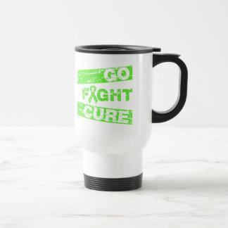 La enfermedad de Lyme va curación de la lucha Taza De Viaje De Acero Inoxidable