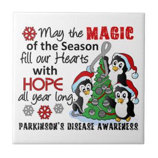 La enfermedad de Parkinson de los pingüinos del na Azulejo