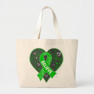 La enfermedad de riñón cree el corazón de la cinta bolsa tela grande