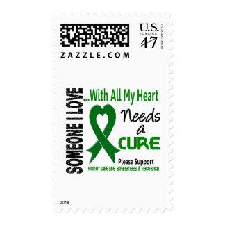 La enfermedad de riñón necesita una curación 3 sello postal