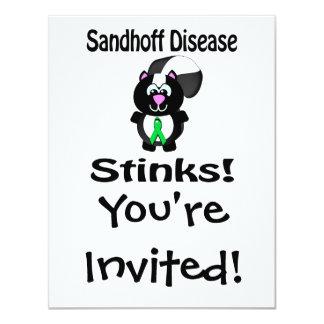 """La enfermedad de Sandhoff apesta diseño de la Invitación 4.25"""" X 5.5"""""""