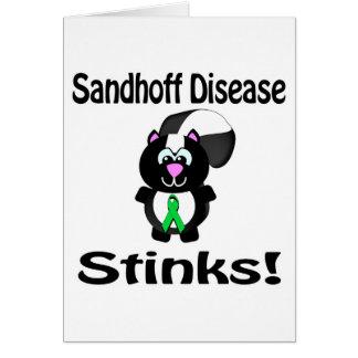 La enfermedad de Sandhoff apesta diseño de la Tarjeta De Felicitación