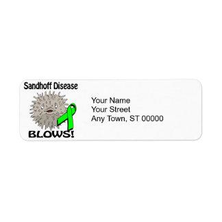 La enfermedad de Sandhoff sopla diseño de la Etiquetas De Remite