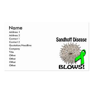 La enfermedad de Sandhoff sopla diseño de la Tarjetas De Visita