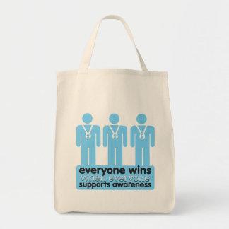 La enfermedad de tiroides cada uno gana con bolsa tela para la compra