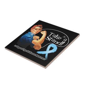 La enfermedad de tiroides toma un soporte azulejos cerámicos