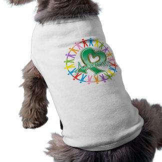La enfermedad del higado une en conciencia playera sin mangas para perro