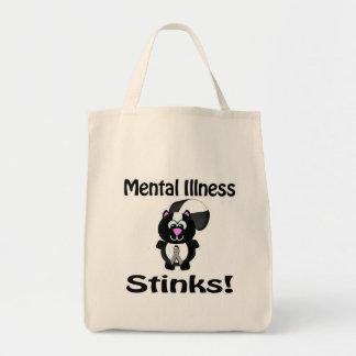 La enfermedad mental apesta diseño de la concienci bolsas de mano
